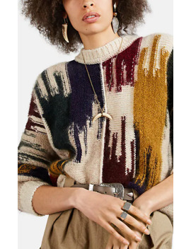 Delly Abstract Pattern Mohair Blend Sweater by Isabel Marant