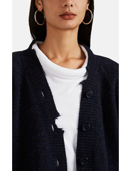 Distressed Mélange Wool Cardigan by Maison Margiela