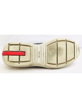 <Span><Span>Prada Blue Silver Americas Cup Runner Trainer Sneaker Shoe 4.5 Uk 37 Eu 7 Us</Span></Span> by Ebay Seller