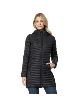 Women's Heat Keep Silk Nano Hooded Packable Jacket by Heatkeep