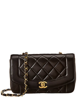 Chanel Black Quilted Lambskin Leather Classic Single Flap Bag by Chanel