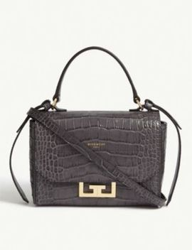 Eden Mini Croc Embossed Leather Bag by Givenchy