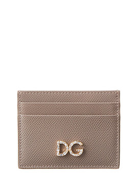 Dolce & Gabbana Dauphine Crystal & Leather Card Holder by Dolce & Gabbana