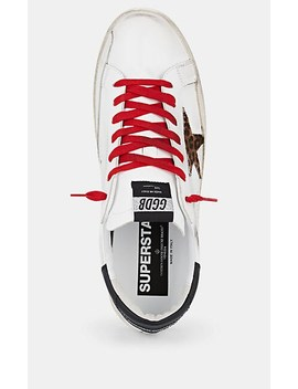 Men's Superstar Leather &Amp; Calf Hair Sneakers by Golden Goose