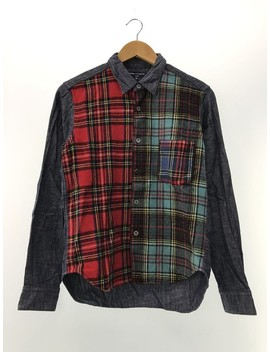 Shirt Multicolor Tartan Check Long Sleeve by Comme Des Garcons  ×