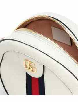 Ophidia Mini Round Leather Shoulder Bag by Gucci