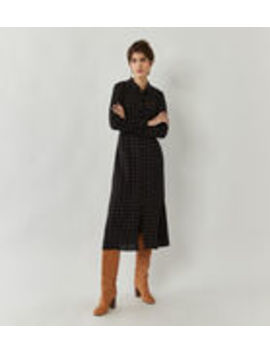Check Midi Utility Shirt Dress by Warehouse