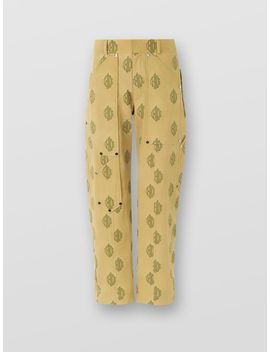 Utilitarian Logo Trousers by Chloe