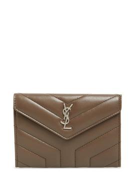 Small Loulou Matelassé Leather Wallet by Saint Laurent