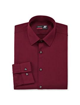 Jf J.Ferrar Mens 4 Way Stretch Performance Spread Collar Long Sleeve Dress Shirt   Slim by Jf J.Ferrar