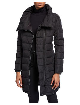 Dkny Asymmetric Zip Packable Puffer Coat by Dkny