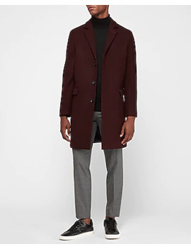 Recycled Wool Blend Topcoat by Express