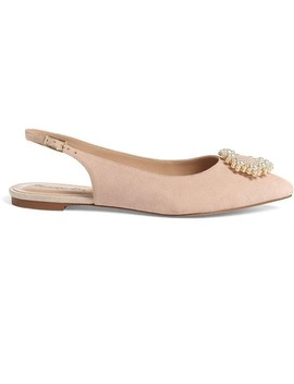 Abi Pearl Trim Slingback Flat Shoes by Phase Eight