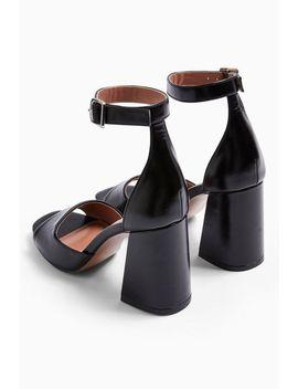 Sadie Black Block Heels by Topshop
