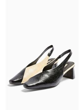 Jagger Black And White Sling Back Shoes by Topshop