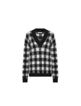 V Neck Sweater In Cashmere With Check Motif by Dior