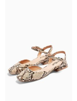 Alaska Snake Square Toe Shoes by Topshop