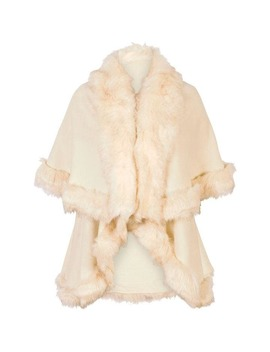 Luxury Knitted Faux Fur Cape by Chesca