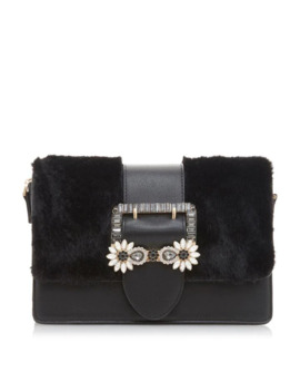 Efiee Fur Panel Jewel Trim Bag by Dune
