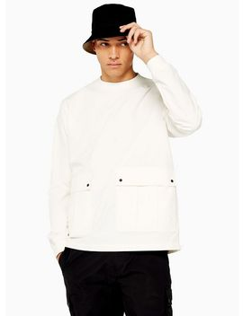 Topman Ltd White Woven Sweatshirt by Topman