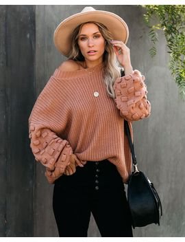 Fall Bucket List Knit Sweater   Camel by Vici