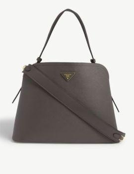 Promenade Leather Shoulder Bag by Prada