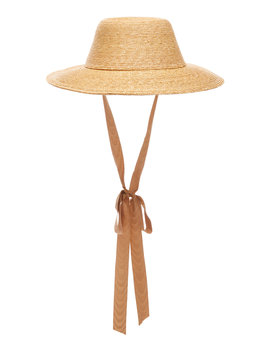 Aloha Grosgrain Trimmed Straw Hat by Gigi Burris