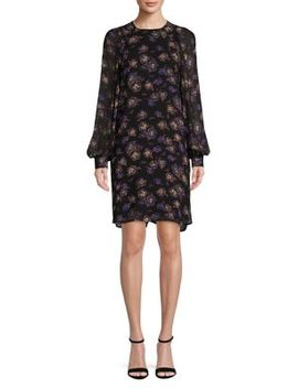 Moody Floral Shift Dress by Ganni