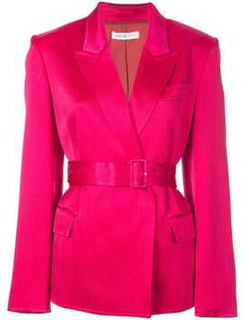 Single Breasted Belted Blazer by Adeam