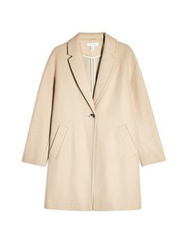 Single Breasted Coat by Topshop