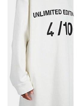 """""""Unlimited Edition 4/100"""" Fleece Sweatshirt Dress by Mm6 Maison Margiela"""