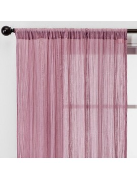 Dusty Rose Crushed Sheer Curtain Panels   Opalhouse™ by Opalhouse