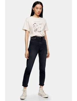 Blue Black Mom Jeans by Topshop