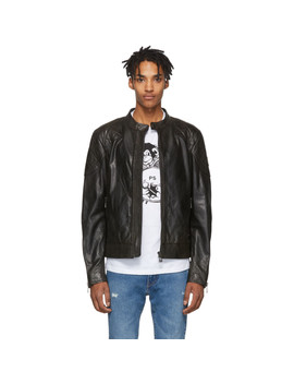 Black Leather Outlaw Jacket by Belstaff