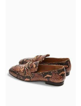 Lorenzo Snake Square Toe Loafers by Topshop