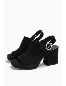 Nolan Leather Black Platform Shoes by Topshop