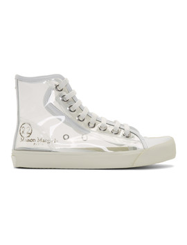 Transparent Tabi High Top Sneakers by Maison Margiela