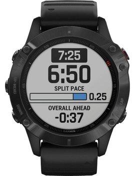 Fēnix 6 Pro Smartwatch 47mm Fiber Reinforced Polymer   Black With Black Silicone Band by Garmin