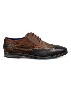 Libero Tri Colour Brogue Shoe by Bugatti