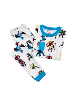 Glow In The Dark Marvel Heroes Tight Fit Pajamas by Pottery Barn Kids