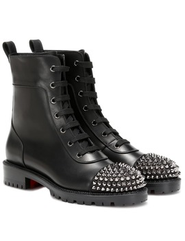 Spike Embellished Ankle Boots by Christian Louboutin