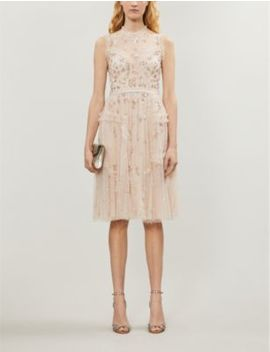 Shimmer Ditsy Tulle Midi Dress by Needle And Thread