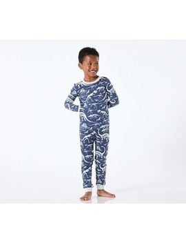 Glow In The Dark Dino Bones Tight Fit Pajamas by Pottery Barn Kids