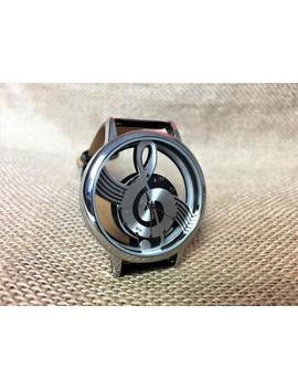 Music Note Watch, Engraved Watch,  Leather Watch Band,  Montre Homme, Armbanduhr, Watches For Men, Watches For Women, Ladies Watches by Etsy