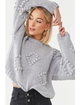 Ribbed Pom Pom Sweater by Forever 21