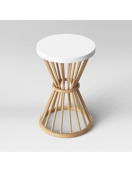 Aloysia Rattan End Table White   Opalhouse™ by Shop Collections
