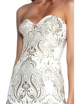 Nicolette Sequin Strapless Trumpet Gown by Dress The Population
