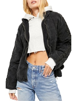 Dolman Sleeve Quilted Denim Jacket by Free People