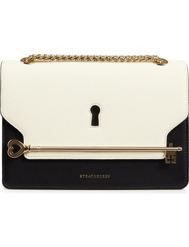 East/West Keyhole Leather Crossbody Bag by Strathberry
