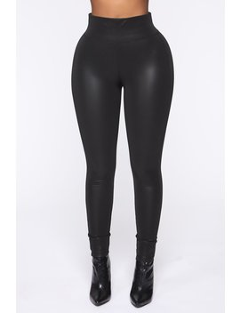 Found The Right One Faux Leather Leggings   Black by Fashion Nova